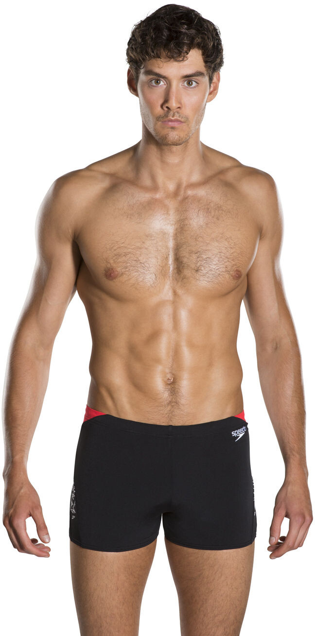 8ae1531f02805 speedo Boom Splice Short de bain Homme, black/white/lava short ...